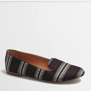 J. CREW FACTORY CORA STRIPED LOAFERS NAVY MAROON 6